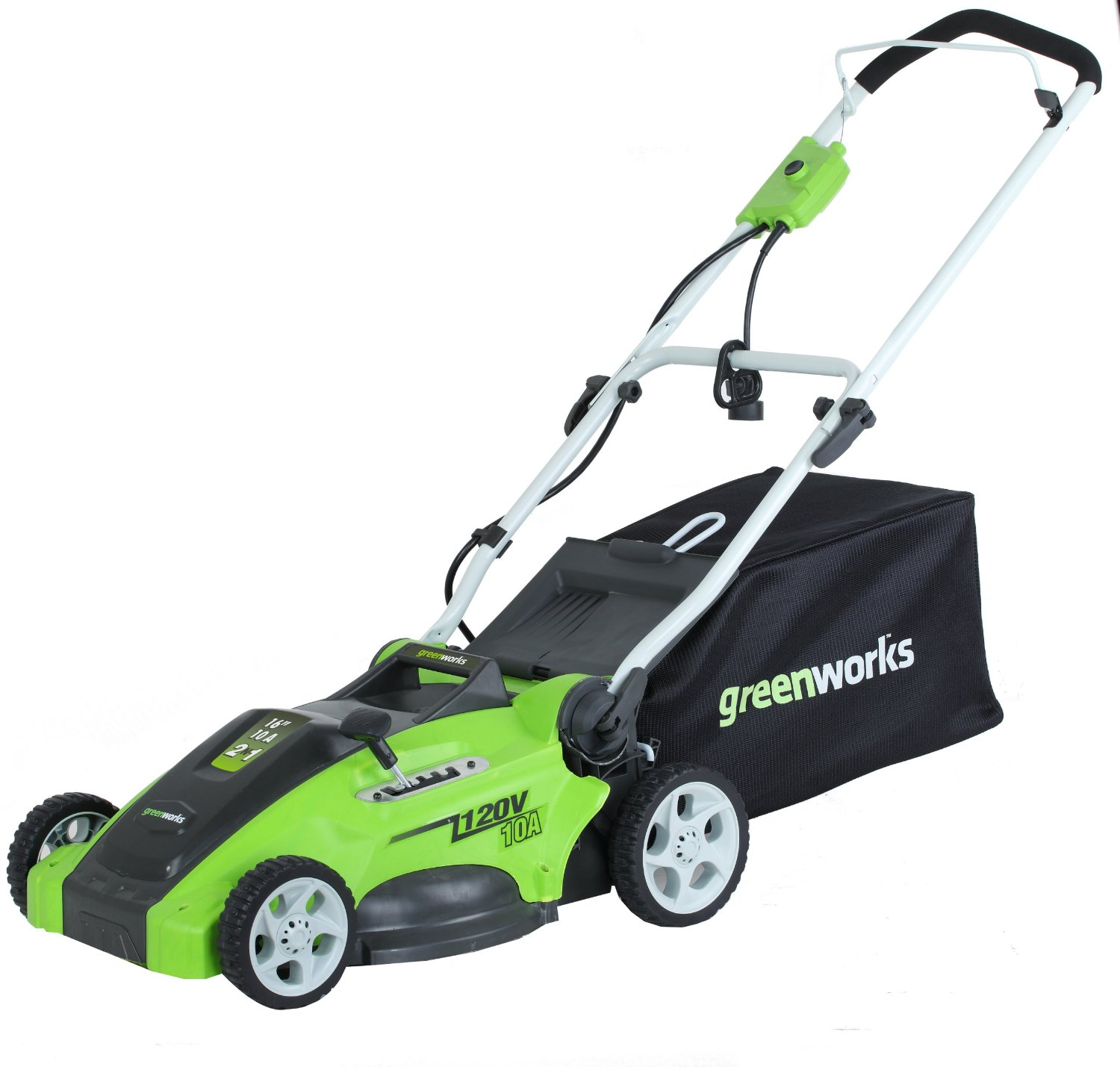 Greenworks 25142 Electric Lawn Mower Review - Electric ...