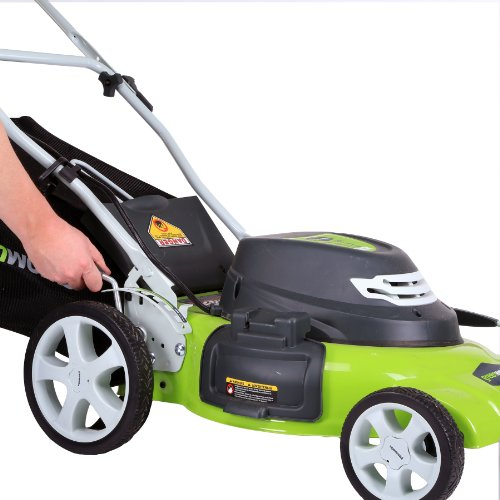 greenworks 25022 lawn mower electric lawn mowers. Black Bedroom Furniture Sets. Home Design Ideas