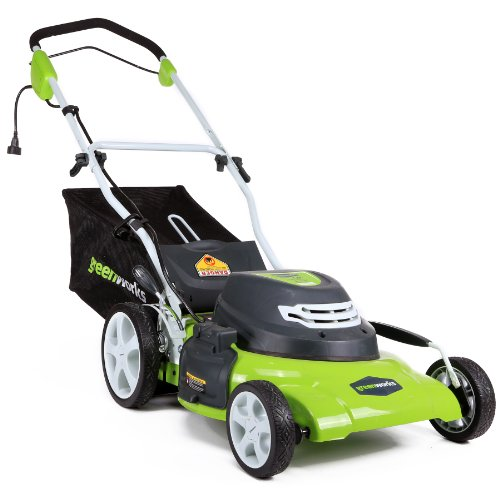 Greenworks 25022 lawn mower electric lawn mowers for Lawn mower electric motor
