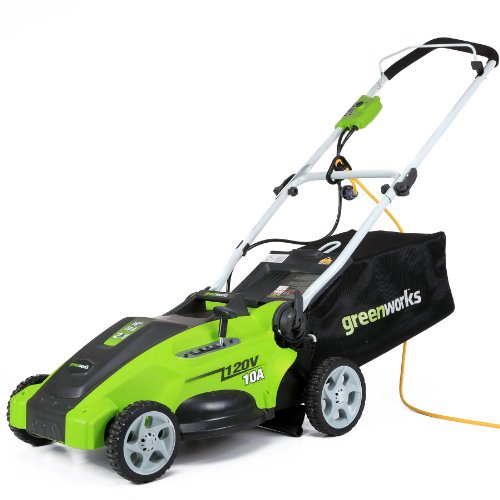 Greenworks 25142 lawn mower electric lawn mowers for Lawn mower electric motor