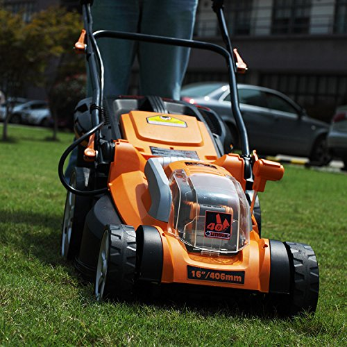 Lawnmaster clmb4016k electric lawn mower electric lawn for Lawn mower electric motor